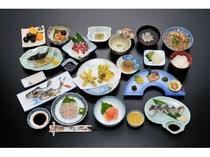 宿泊 夕食あまご料理3