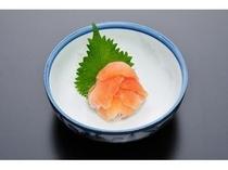 あまごの洗い 京風からし酢味噌でどうぞ