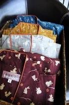 キレイ女子旅プランの和柄作務衣。