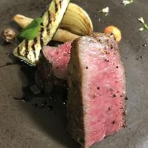 *[Dinner/肉料理一例]超レア部位!希少価値の高い八幡平牛の大トロ「イチボ」をご堪能下さい。