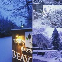 雪が美しい冬風景