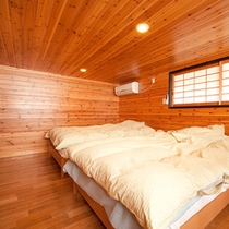 ■和洋室+ロフト■もみじ 2階のロフトには広めのベッドをご用意。