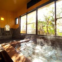 ■貸切石風呂■ 小庭の緑を眺めながら四季を感じる。