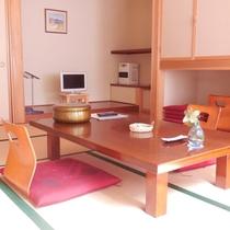 【客室例】お部屋から眺める自然の美しさと喧騒とは無縁の静寂が心を癒してくれる