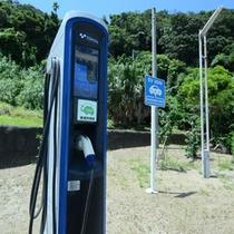 電気充電スタンド2台設置!エコカーご利用のお客様は、ご利用いただけますよ♪