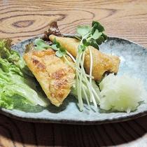 *【お料理】夕食一例 飛騨高山名産の「あげづけ」