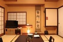 落着いた雰囲気の和室(夜イメージ)