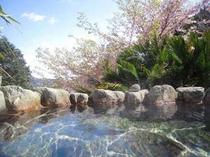 弓ヶ浜も見える花見露天風呂