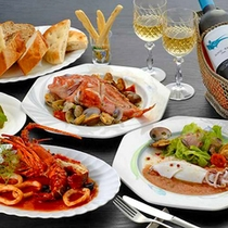*豪華食材が彩るディナー一例