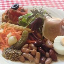 *【お食事一例】1泊2食コースでご用意。サラダの前菜。