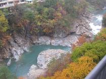 鬼怒川と紅葉