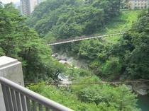 客室テラスから見える滝見橋