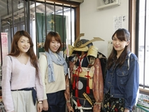 JR竹田駅内にの観光案内所は、竹田城の情報がいっぱい。