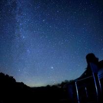 *【星空観察】空気のきれいな里山で、満天の星空を観察!運が良ければ流れ星を見られる事も♪