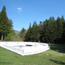 *【中庭】那須塩原の自然の中でリフレッシュ!中庭はミニドックランに。ワンちゃんも走り回れます♪