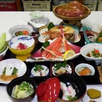 *【夕食(全体例)】良質でふっくらとした柔らかさの八幡平ポークのスタミナ鍋。