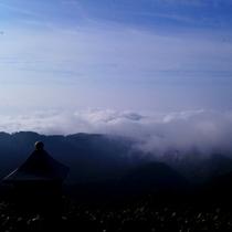 幻想的な雲海
