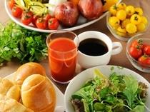 野菜を中心としたヘルシーブレックファスト