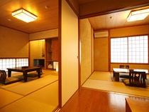 1室2部屋 和室10畳+6畳