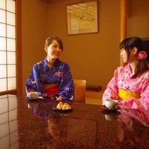 ゆっくりと和室でお茶を頂いたか