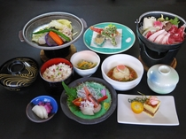 【ご夕食】 夕食スタンダードの 長沼膳の一例