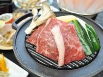 【ご夕食】四季菜の膳 道産牛を使った陶板焼き