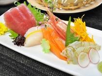 【ご夕食】四季菜の膳 旬魚五種盛り合わせ