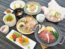 【ご夕食】四季菜の膳 一例