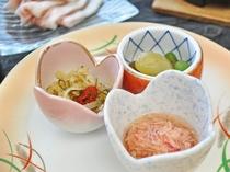 【ご夕食】ながぬまの膳 旬菜三種盛り合わせ