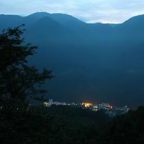 山からの当館周辺