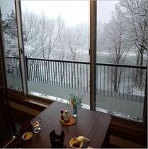 お食事処からの眺め 冬2