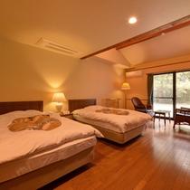 *ツイン(客室一例)/カップルやご夫婦に◎清潔を心がけたお部屋は寛ぎの空間を与えてくれます。