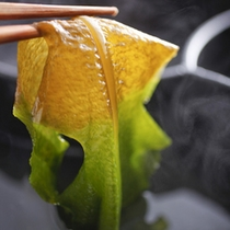 「 ジオ鍋 」食材の一例 〔ワカメ〕