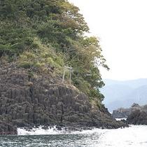 「 香住海岸のジオパーク 」の一例(隆起岩)