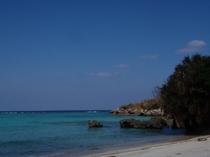 真夏の長浜ビーチ
