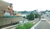 みそ五郎の居る南島原市役所(島原方向→口之津方面へ向かう写真)