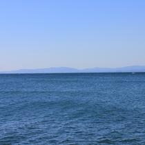 【景色】海側のお部屋からは穏やかな有明海が望めます
