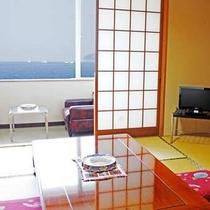 【海の見える和室(10畳)】有明海を眺めながら寛げます