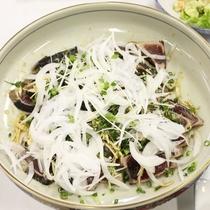 【夕食一例】カツオのたたき