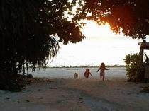 カイジ浜からの夕日