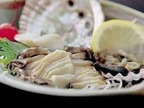 ◆あわび◆お造り。コリコリの食感と潮の風味が絶品