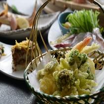 海老と野菜の天麩羅