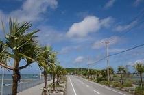 瀬長島に入る道路