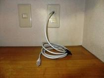 【本館】有線LAN対応(シングルルームのみ)