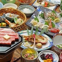 贅沢にお楽しみ頂けるこだわりのお食事です。