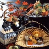 【秋】旬の食材を取り入れた会席料理一例