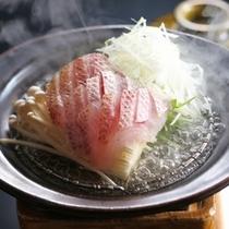 磯魚の陶板ちり蒸し