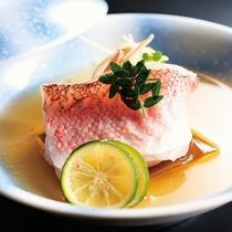 磯魚の焼きちり酢橘蒸し