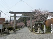 更に進んで左は松阪神社