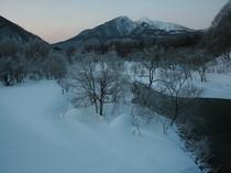 霧氷秋元湖周辺